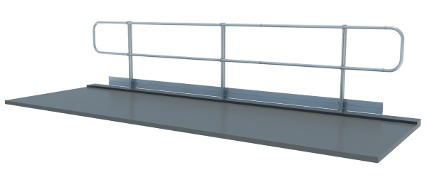 fixed guardrail roof safe zone