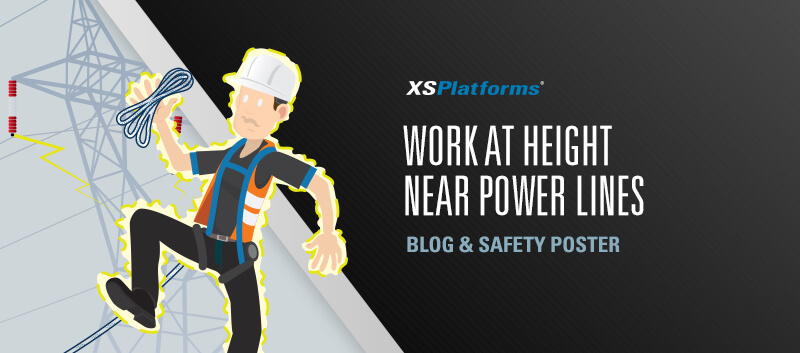 Work at height near power lines